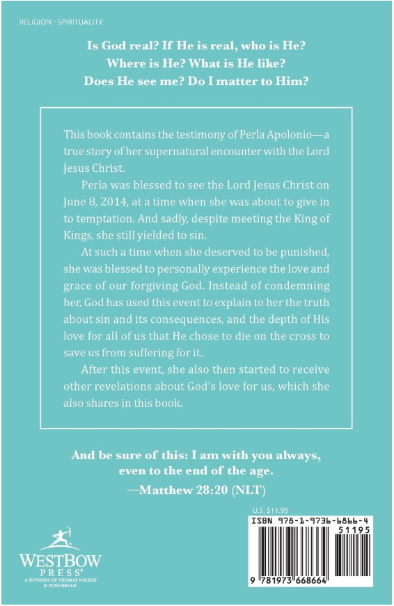 """I Am with You Always"" back cover"